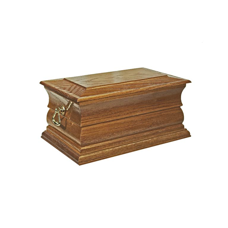 Norfolk Oak Solid Stain Casket.