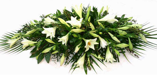 Funeral Spray White Lillies.